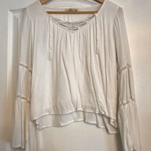 Hollister Lace-Up Blouse w Bell Sleeves! Small!